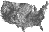 visualization of U.S. windflow